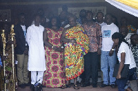 The Omanhene of Sefwi Traditional Area with Staff from the Eye Centre