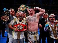 Andy Ruiz knocked down Britain's Joshua