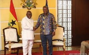 President Akufo-Addo with Former President John Mahama