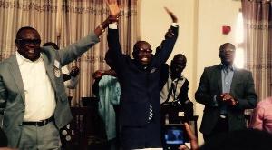 Mr. Kwesi Nyantakyi (middle) -GFA President