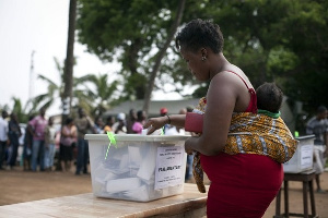 An election in Ghana