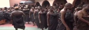 Otumfuo Osei Tutu II (L), The late Asantehemaa Nana Afia Kobi Serwaa Ampem II (R)