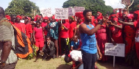 The residents protested against oil exploration in the area