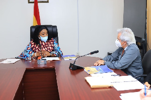 Minister for Foreign Affairs and Regional integration, Shirley Ayorkor Botchwey and Javier Nart