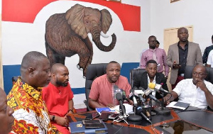 NPP executives announcing guidelines for polls in new regions