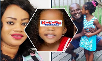 The late Stacy, Kennedy Agyapong and his six-year-old daughter