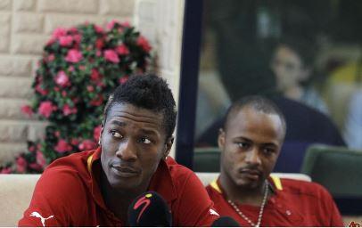 Asamoah Gyan and Andre Ayew
