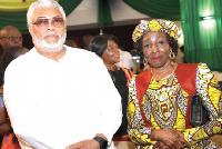 Jerry John Rawlings and Nana Konadu Agyeman-Rawlings