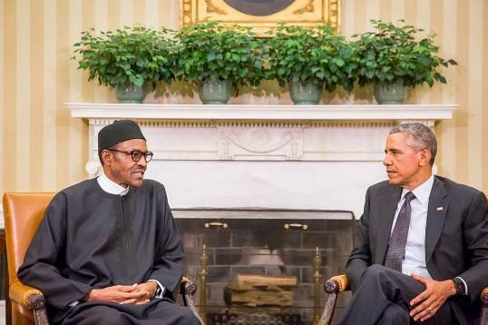 President Muhammadu Buhari with Prez. Obama at the White House