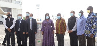 The vaccines were officially received at the Kotoka International Airport by Ghana's Minister for Fo