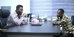 Social and political commentator, Kwame Asare Obeng (A -Plus) with Sammy Kay