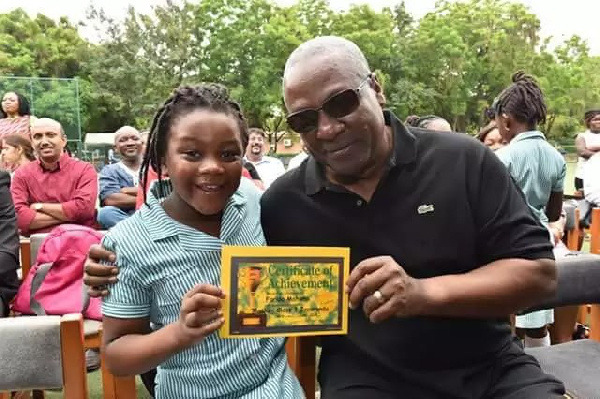 Mahama's little daughter cries over negative comments about Father