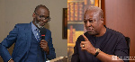 Leading member of the NPP, Gabby Asare Otchere-Darko and former President John Dramani Mahama
