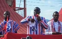Sammy Awuku (middle) is NPP National Organizer hopeful