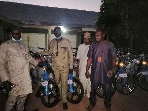 Stephen Ayensu Ntim donated 20 Sonlink motorbikes to the NPP in the Northern Region