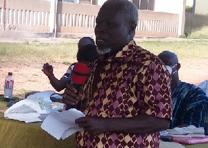 Bad Roads Mr Kangainset Speaking At The Meeting