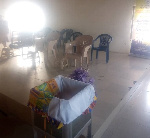 Premises of the church looted by the robbers at Sandema