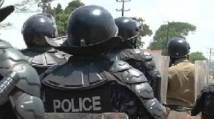 Members of the Ugandan Police Force