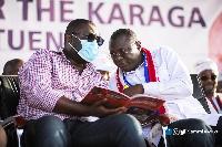 Sammi Awuku with Dr. Mohammed Amin Adam Anta
