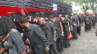 Past appointees of John Mahama's government pictured greeting the family of the late Ebony