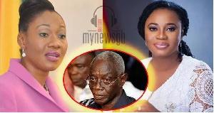 Jean Mensa, Charlotte Osei and Dr Kojo Afari Gyan
