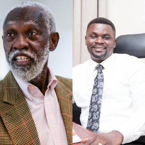 Prof Adei (L) and Kwasi Obeng-Fosu