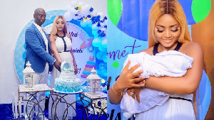 Regina Daniels and billionaire husband, Ned Nwoko, hold naming ceremony for their son