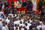 There was complete chaos in Ghana's Parliament early Thursday