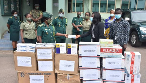 Transsion Technology Ghana Limited donated the items to Comptroller-General of Immigration