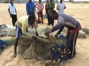 The fishermen caught a woman in their fishing net instead of fishes