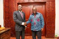 President Akufo-Addo with Lt Gen Salou Djibo