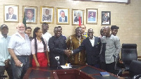 The AMA boss with reps from Millennium Marathon