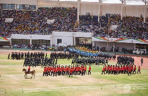 Some security personnel parading