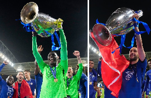 Senegalese goalie Mendy and Morocco's Ziyech won the 2020/2021 UCL with Chelsea