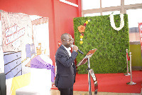 Managing Director of Unilever Ghana, Ziobeieton Yeo, addressing the audience