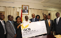 Managing Director of the Bank presented the cheque to the Minister of Finance