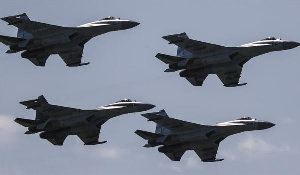 A photo of some aircrafts