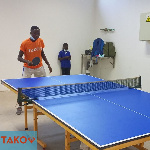 The new table on display in a tennis game