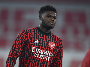 Arsenal midfielder Thomas Partey