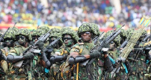 File photo - Ghanaian soldiers