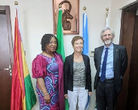 Head of Delegation of the EU, Diana Acconcia with Foreign Affairs Minister, Shirley Botchwey