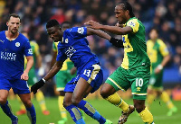 Ghana's Daniel Amartey in action for Leicester City