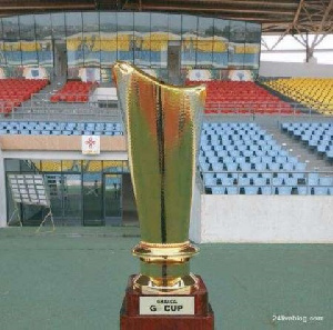 The trophy the two teams will be battling for