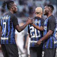 Kwadwo Asamoah made is debut for Inter Milan on Saturday in a friendly