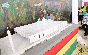 An architectural model of the National Cathedral