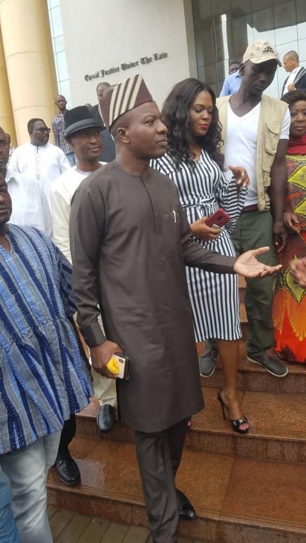 Mahama Ayariga at the court on Monday