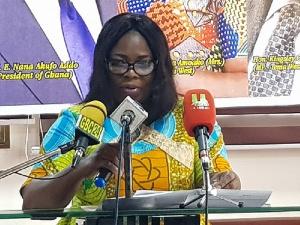 Mrs Adwoa Amoako Addressing The Media