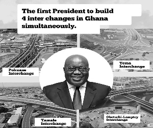 President Nana Addo Dankwa Akufo-Addo touting his achievements with the trend