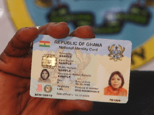 File photo the Ghana Card
