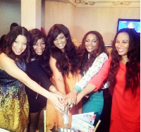 Omotola shares throwback picture with some nollywood stars